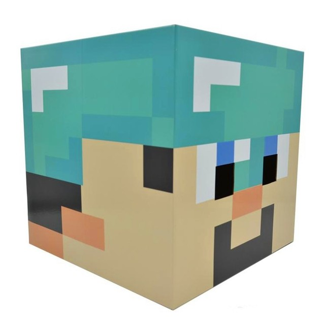 Minecraft Diamond Steve Cardboard Heads Cosplay Use DIY Steve Full Face Head Costume Cardboard Mask  sc 1 st  AliExpress.com & Minecraft Diamond Steve Cardboard Heads Cosplay Use DIY Steve Full ...