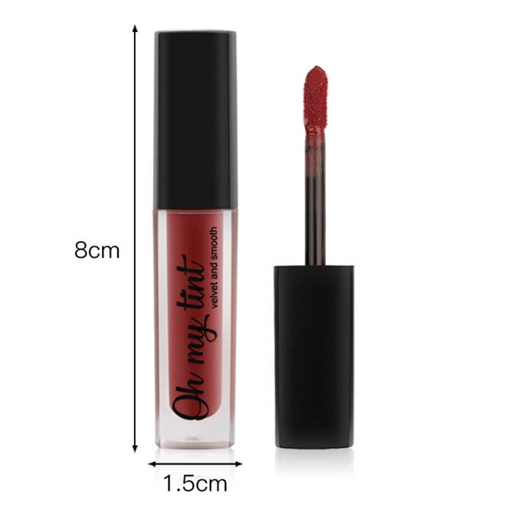 Dropshipping 1 Pcs שפתון נוזלי שפתיים זיגוג מט לאורך זמן ללא מקל כוס נייד עבור נשים SMJ