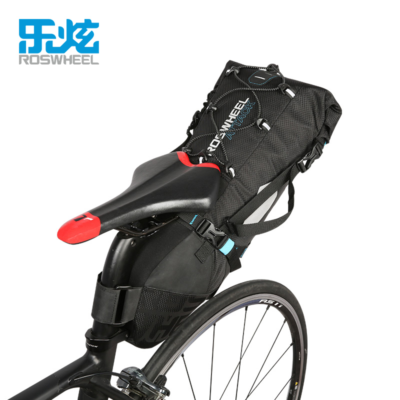 ROSWHEEL Bicycle Saddle Bag New 10L 100% Waterproof Bicycle Bag Bike Accessories Saddle Bags Mountain Bike Back Seat Bbackpack rhinowalk 10l 100% waterproof bike saddle bag seat bike mountain bike accessories