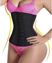 Waist trainer corset steel boned waist cincher trimmer shapewear hourglass tummy fat burner girdles plus size shaper for ladies