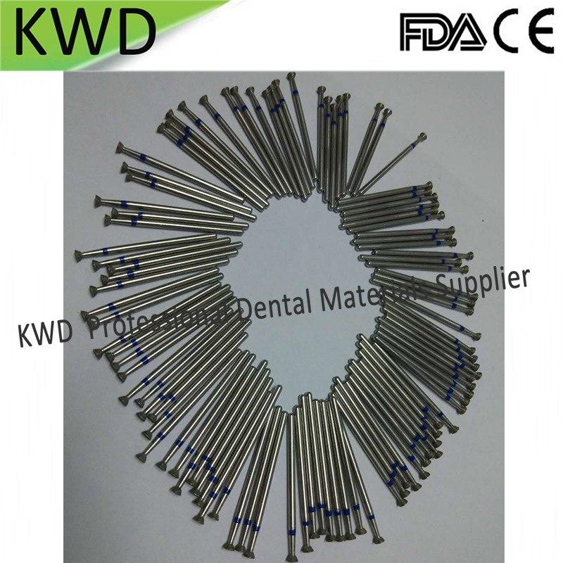 100pcs Lot Inverted Cone Diamond Burs HP Dental Lab Low Speed Polishing Dental Burs Diamond 2