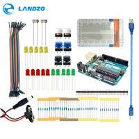 LANDZO Arduino 13 In 1 Kit New Starter Kit UNO R3 Mini Breadboard LED Jumper Wire