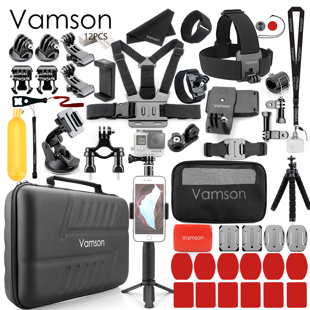 Vamson for Gopro Accessories Set for go pro hero 7 6 5 4 3 for DJI OSMO Action Camera for xiaomi for yi EVA case VS83