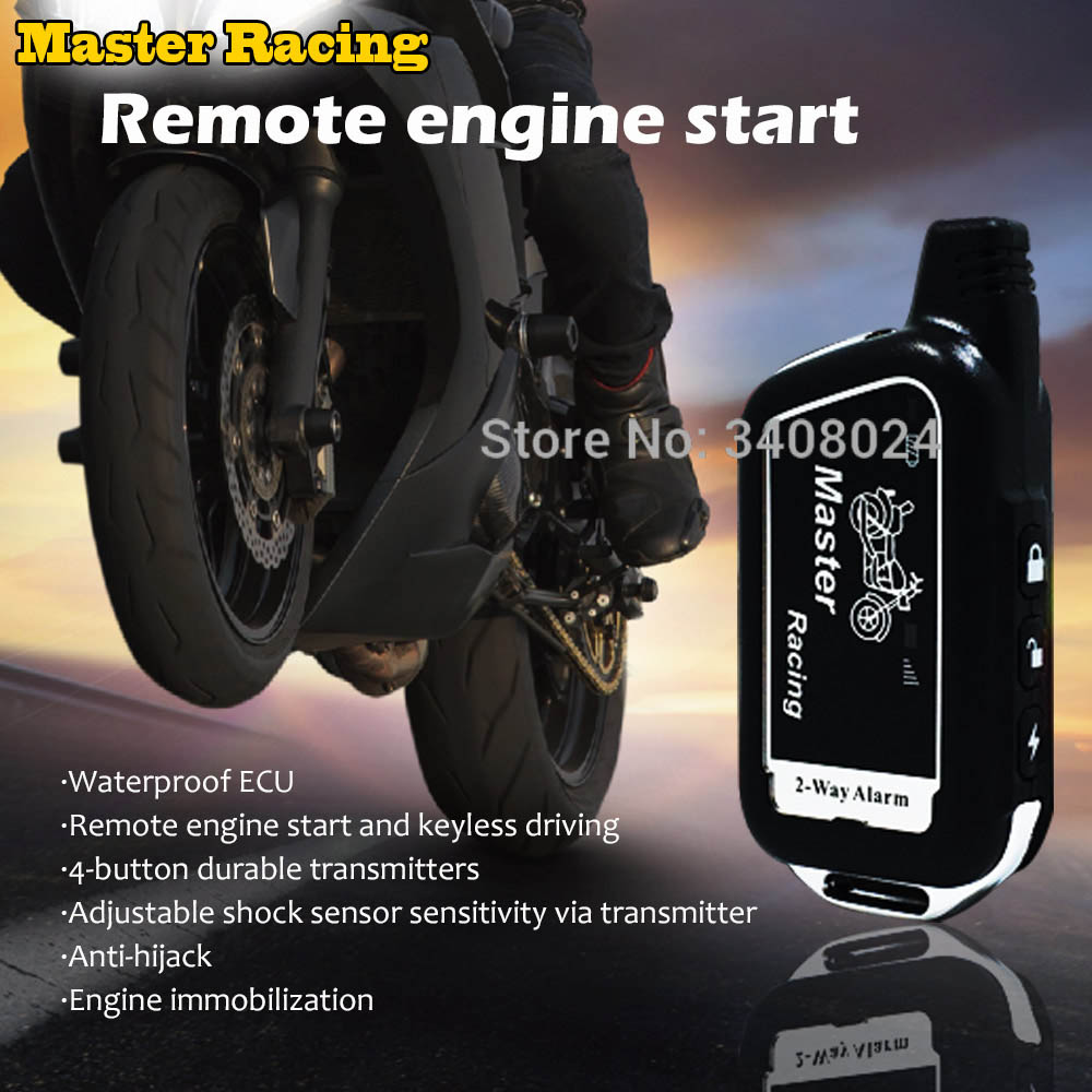 Universal Motorcycle Scooter Two Way Alarm Anti-theft Protection Security System Remote Control Engine Start Moto 2 Way Alarm
