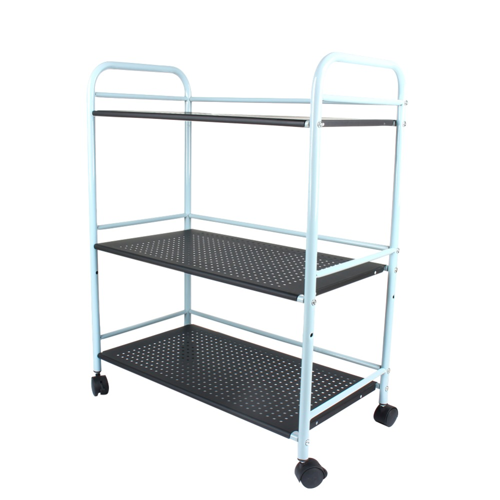 3/ 4 Tiers Shelf Salon Trolley Cart Organizer Kitchen STORAGE Home Rack 40cm/ 60cm Warehouse Shelfs Black/ White For Choose
