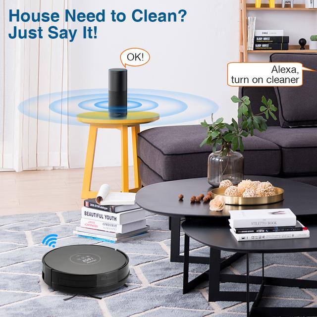 Robotic Vacuum Cleaner, Alexa Control, Wet & Dry Moping Auto Self Charging