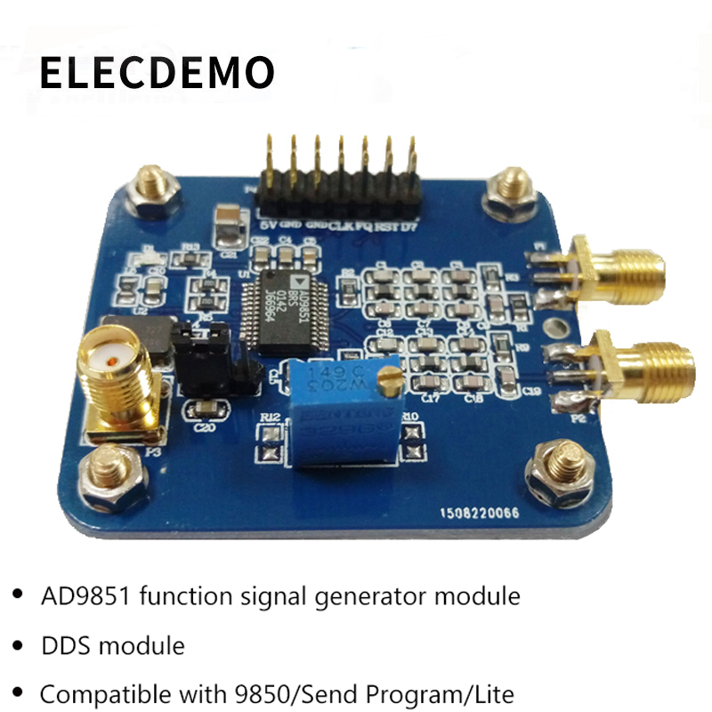 AD9851 Module Provide STM32 source code with AD9850 Streamlined DDS  Function Signal Generator Function demo board