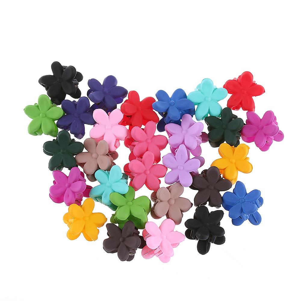 10/20/30pcs Wholesale Mini Cute Hair Claw Children Girls Hairpins Small Barrettes Flowers Gripper 4 Claws Hair Clip Clamp Random Attractive Designs; Hair Accessories