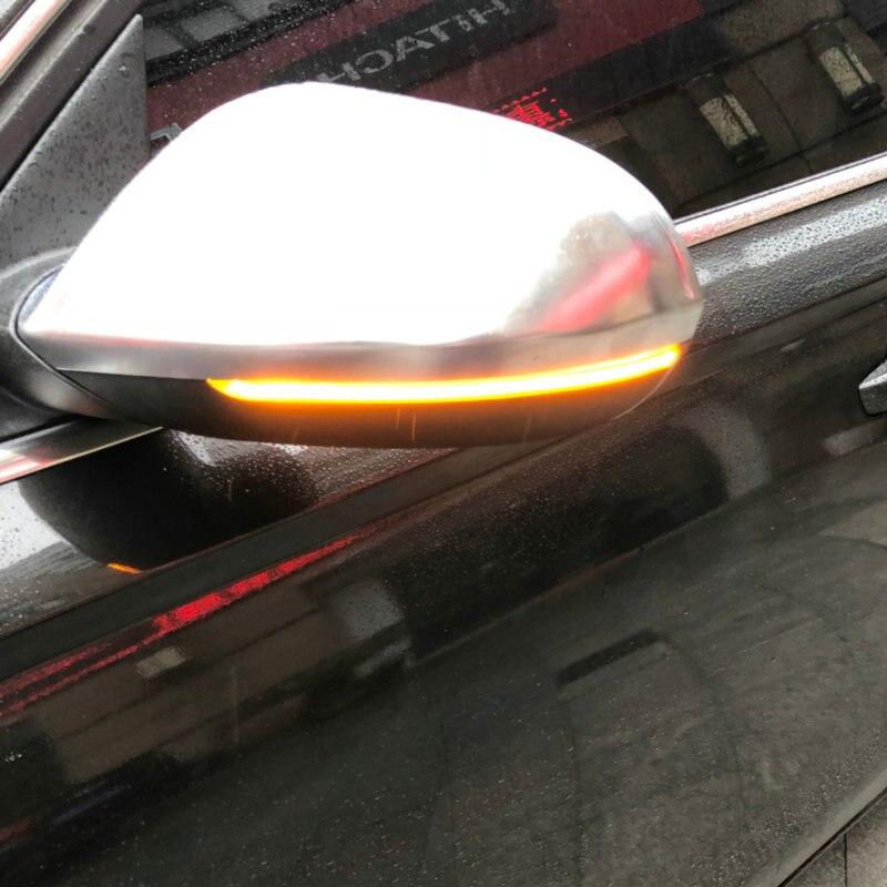 Kibowear for Audi A6 C7 S6 4G RS6 Dynamic Scroll LED flowing Turn Signal Side Mirror