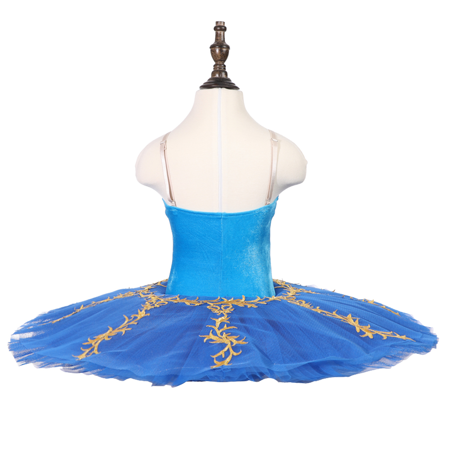 Children Blue Professional Ballet Tutu Kids Stage Ballet Performance Competition Costumes Girls Classical Ballet Skirt Apperal in Ballet from Novelty Special Use