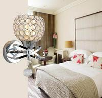 10pcs/lot E27 BASE Stair Crystal No Bulb Wall Lamps Bedside Light Silver/Gold Led Lamp For Living Bed Room Bedroom Decor crystal wall light wall light stair lamp -