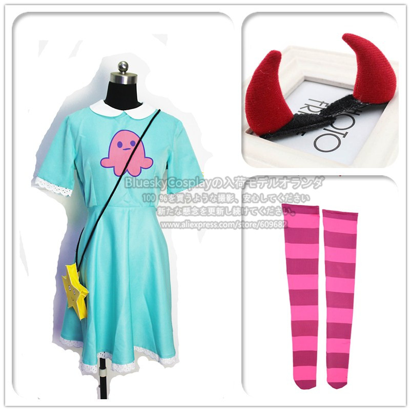 Star vs.the Forces of Evil Magic Princess Star Butterfly Adult Dress Cosplay Costume  custom any size +wig wigs