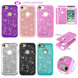 2018 for Apple iPhone8 Plus Case iPhone 8 Plus A1898 a1899 a1864 for iPhone8 iPhone 8 A1906 a1907 2 in 1 PC + TPU Glitter Cover 1