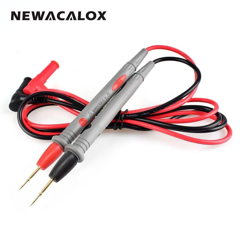 NEWACALOX Aiguille Pointe de Sonde de Test Mène Pin Chaud Universal Multimètre Numérique Multi Testeur Plomb de Sonde Fil Pen Câble 20A