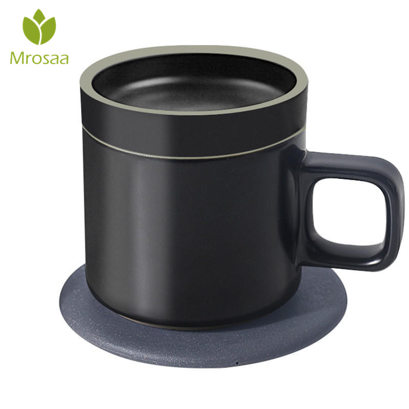 55 Degree 250ml Smart Electric Heating Coffee Mugs Wireless Charging Janpan Original Ceramics Insulation Coffee Cup