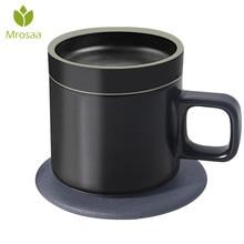 55 градусов 250 мл Smart электрическое отопление Кофе кружки Беспроводной зарядки Janpan керамики изоляции Кофе чашки топ в подарок