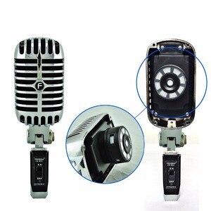 Image 3 - FREEBOSS FB W01 przewodowy dynamiczny mikrofon Retro styl Vintage profesjonalny Karaoke KTV Studio Mic Jazz Stage wokalny mikrofon