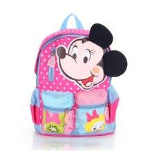 2017 nueva mochila de dibujos animados minnie mickey imprimir mochila jardín de infantes/niños de la escuela primaria bolsas mochila infantil para las niñas