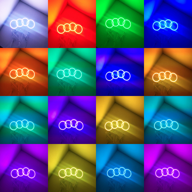 for kia Sportage RGB LED headlight halo angel eyes kit car styling accessories 2011 2012 2013 2014