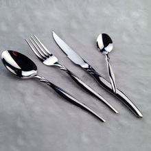 4 pcs Tableware Stainless Steel Dinnerware Set Of Steak Knife Fork Spoon Western Cutlery Mirror Polished Flatware Set