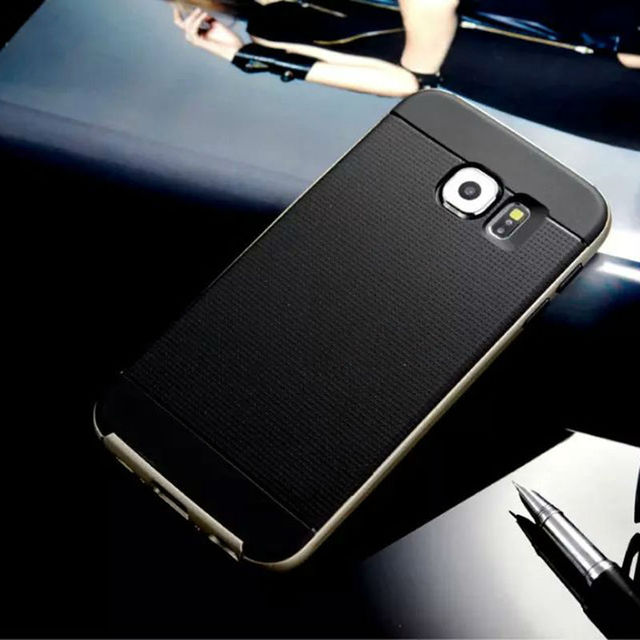 For Samsung Galaxy S6 / S6 edge / S6 edge Plus / S7 / S7 edge Case Hard PC & Soft Rubber Silicone Hybrid Phone Back Cover