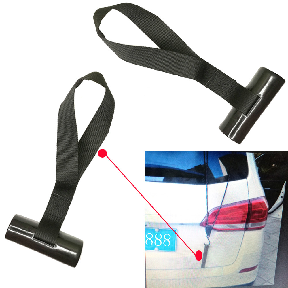 2pcs Marine Canoe Kayak Hood Trunk Tie Down Loops Vehicle Hatchback Transport Shoreline