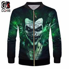 OGKB hombres Zip chaqueta impresión Suicide Squad Joker 3D bombardero chaquetas  hombre Hiphop Streetwear Tracksuits Outwears 8e7b4d84bb9