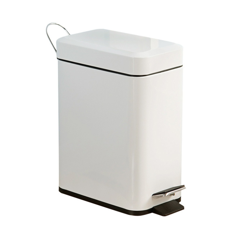 Poubelle en acier inoxydable poubelle en acier inoxydable pédales ménage salle de bain modèles spéciaux 5 litres 040
