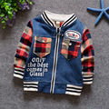 2016 spring children's clothes baby boys Seamless long-sleeve child denim outerwear top coat jackets cowboy free shipping