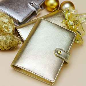 Image 4 - 2019 Lovedoki Notebook Gift 6 hole Loose Leaf Diary A5&A6 Spiral Planner Silver  Gold Cover Dokibook Organizer Korean Stationery