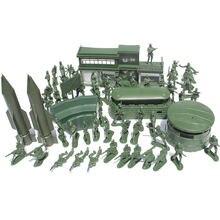 Военные базы для Солдат Второй мировой войны 56 шт/компл игрушечные