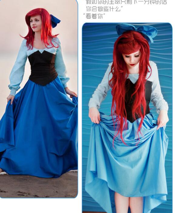 Ainiel Movie The Little Mermaid Princess Ariel Dress Mermaid Cosplay Costume