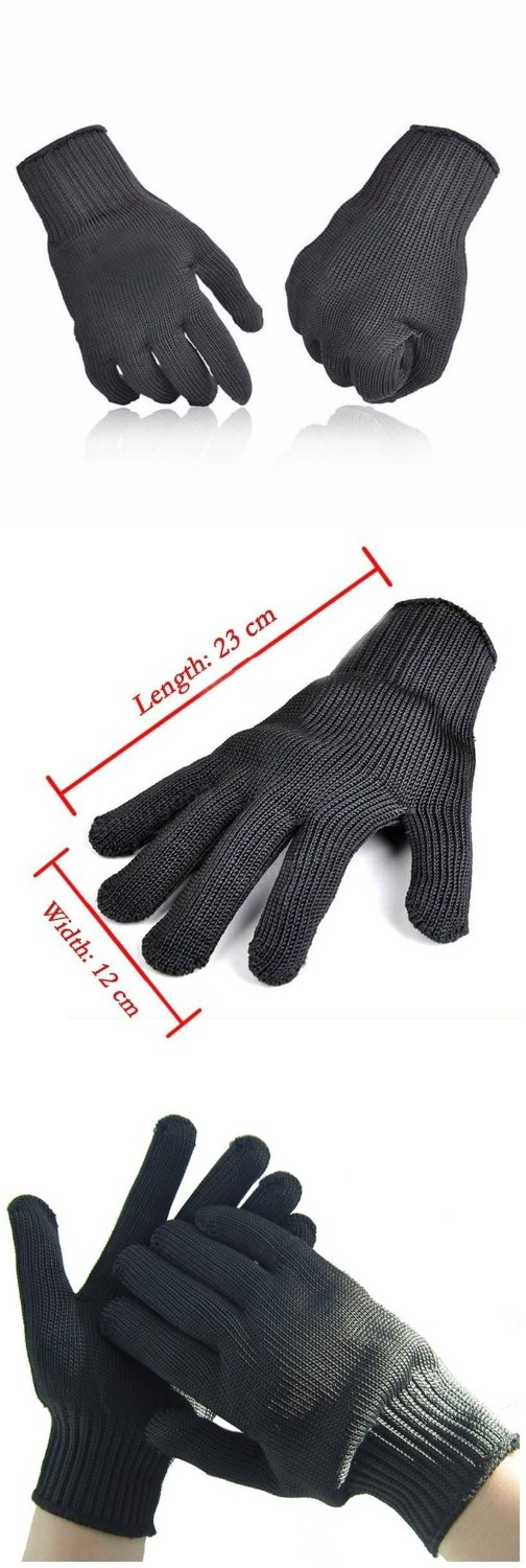 Pair Of Anti Cutting Gloves Cut Proof Safety Breathable Outdoor Working Gloves Hands Protector Black or White Color цена