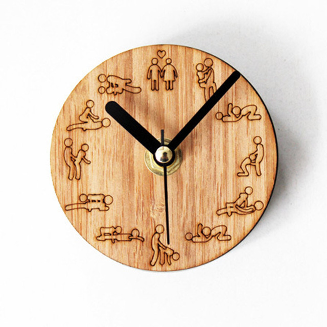 Wooden Kitchen Clock Gray Cabinets Super Creative Wood Personalized Fun Fridge Magnet Clocks