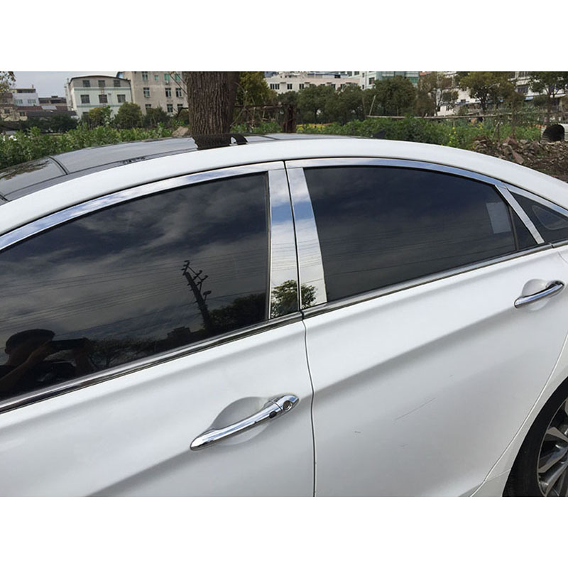 lsrtw2017 304 stainless steel car window trims for hyundai sonata 2010 2011 2012 2013 2014 hyundai i45 free shipping leather car floor mat carpet rug for hyundai sonata hyundai i45 sixth generation 2009 2010 2011 2012 2013 2014