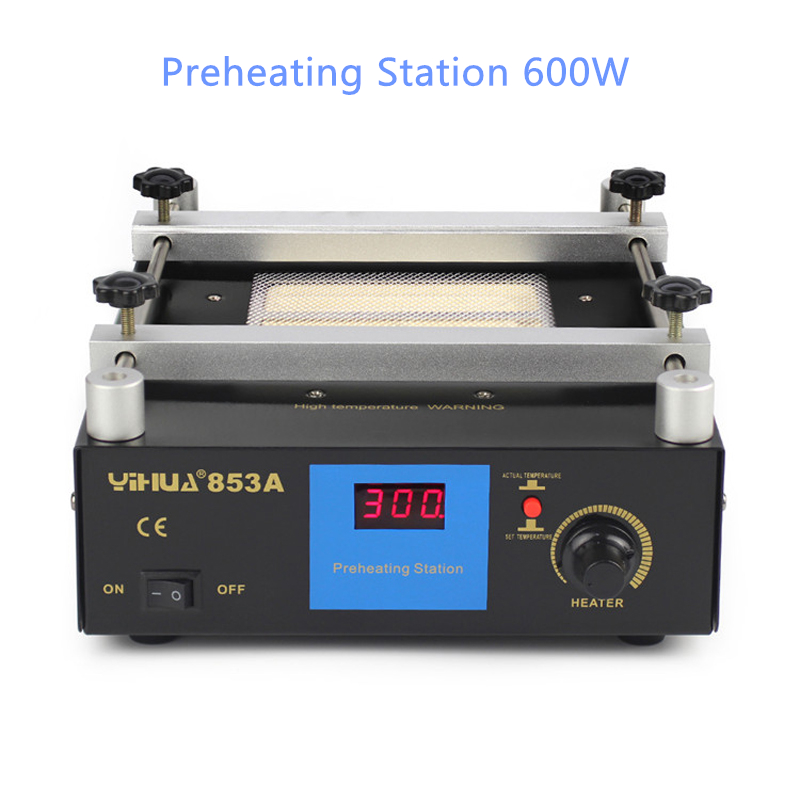 853A Thermostatic Preheating Station 600W  BGA Desoldering Rework Stationdigital Display Heating Platform Upgrade puhui t862 irda infrared bga rework station bga smd desoldering rework station free tax to eu