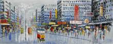 Ручная роспись маслом на холсте Абстрактная Картина в гонконгском