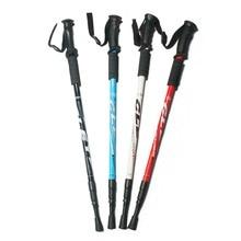 135CM Aluminum Outdoor Hiking Anti Shock Walking Sticks Telescopic Trekking Climbing Poles Ultralight Walking Canes