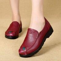 KFASTT New Autumn Women S Shoes Fashion Casual Women Leather Shoes Ladies Comfortable Shoes