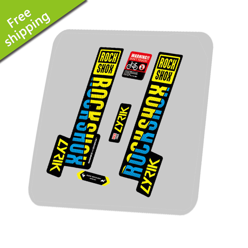 Rock Shox LYRIK 2018 Mountain Bike Cycling Decal Kit Sticker Adhesive Gray