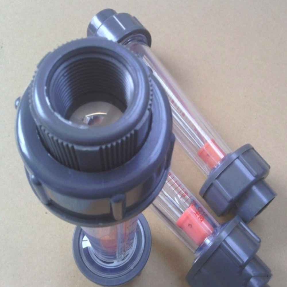 LZB-50S Rotameter Plastic Water Flow Meter (Long tube) Flow range 1-10m3/h ,LZB50S Tools Flow Meters plumbing цена