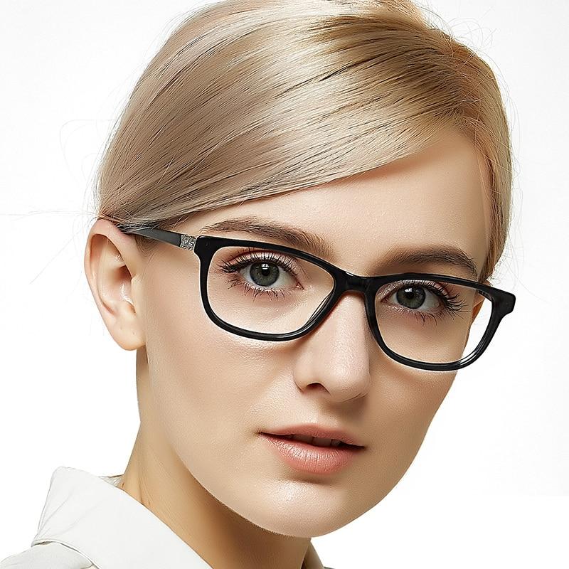 Rectangle Glasses Frame Ladies Luxury Diamond Decoration Eyeglass Classic Women Optical Metal Myopia OC7029