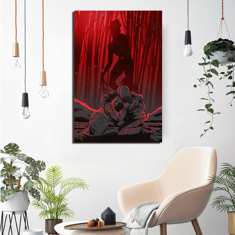 Stranger Things Upside Down Art Wall Art Canvas Painting Nordic Posters And Prints Canvas Art Wall Pictures Kids Room Decoration in Painting Calligraphy from Home Garden
