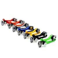 New Style Dirt Bike Cnc Folding Brake Clutch Lever Black Motorcross Clutch Brake Levers FOR KAWASAKI