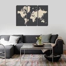купить Map of the World Wall Art Canvas Painting for Dining Room Office Wall Decor Artwork World Map Canvas Print Home Decor Drop Ship по цене 1188.63 рублей