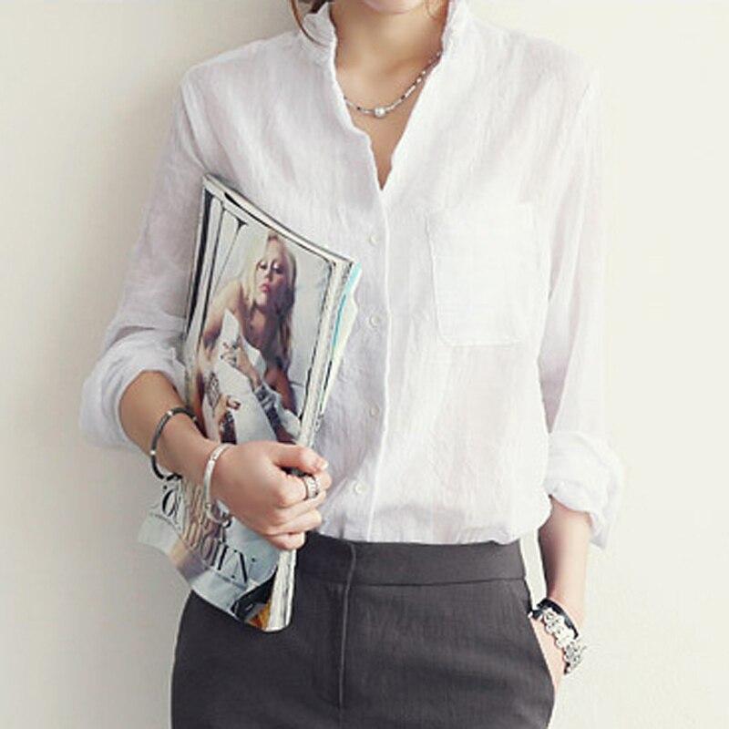 Chemisier Femme Autumn Linen Shirt 2