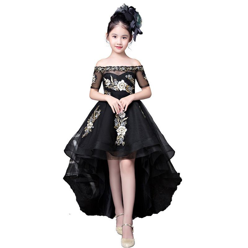 Royal Princess   Dress   Cocktail Party Shoulderless   Flower     Girl     Dresses   Ball Gown Kids Pageant   Dress   Birthday   Girls   Prom   Dress   X02