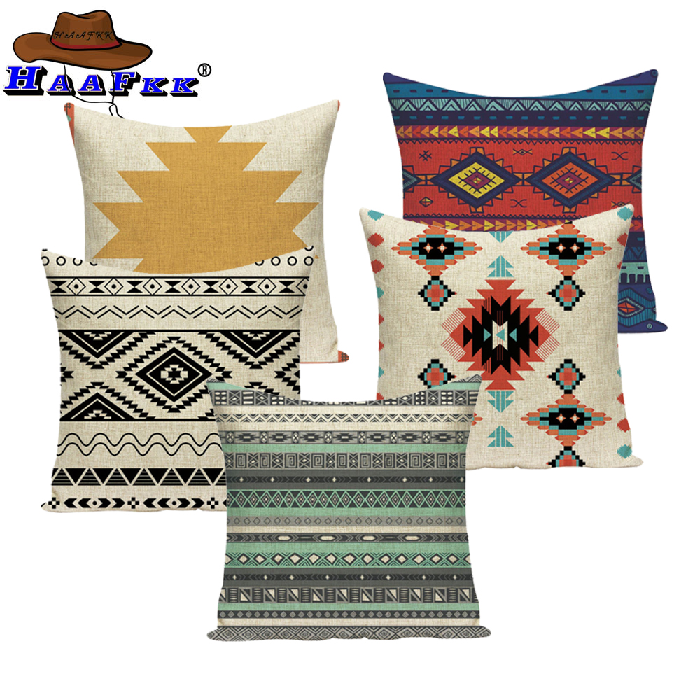 Aztec Cushion Bohemian Home Decor