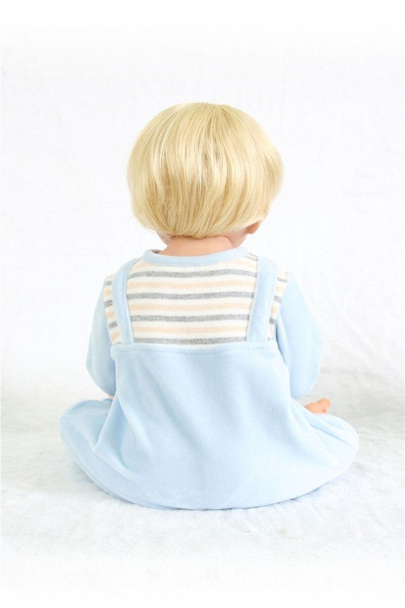 Poupées silicone reborn bébé garçon poupées vraie blonde Bebes reborn menino bonecas 55 cm avec peluche Surprise cadeau Santa bebe - 6