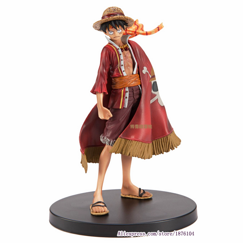 17cm Anime <font><b>One</b></font> <font><b>Piece</b></font> <font><b>Luffy</b></font> Theatrical Edition Action Figure Juguetes <font><b>One</b></font> <font><b>Piece</b></font> Figures Collectible Model Toys Christmas Toy image